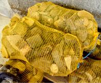 Chûtes de bois en sac